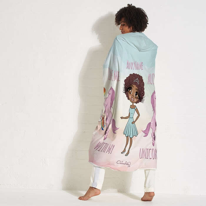 ClaireaBella Unicorn Love Hooded Blanket - Image 7