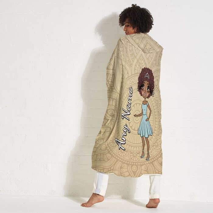 ClaireaBella Lace Print Hooded Blanket - Image 1