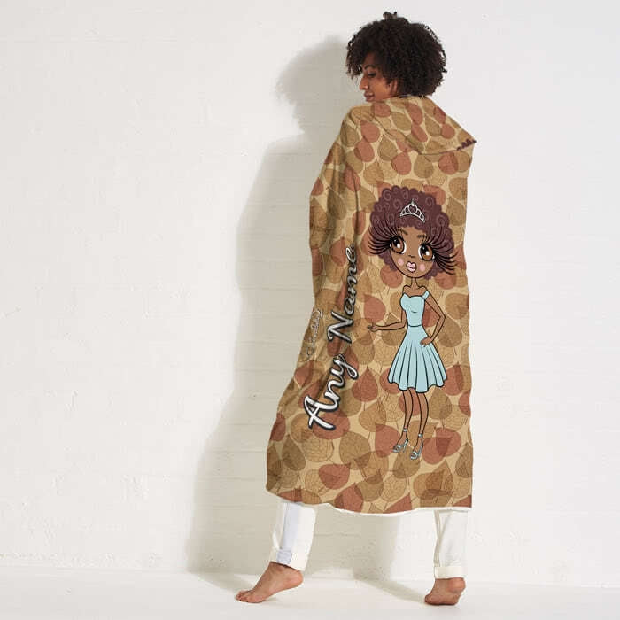 ClaireaBella Autumn Leaves Hooded Blanket - Image 4