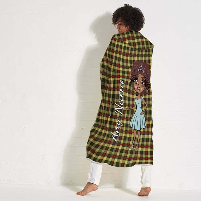 ClaireaBella Tartan Hooded Blanket - Image 6