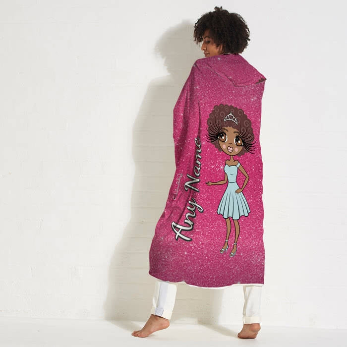 ClaireaBella Glitter Effect Hooded Blanket - Image 1