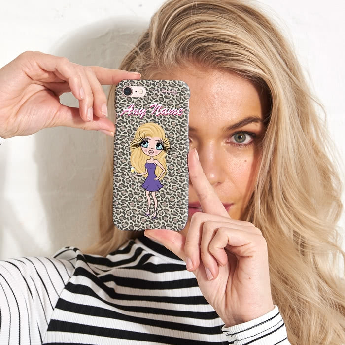 ClaireaBella Personalised Leopard Print Phone Case - Image 1