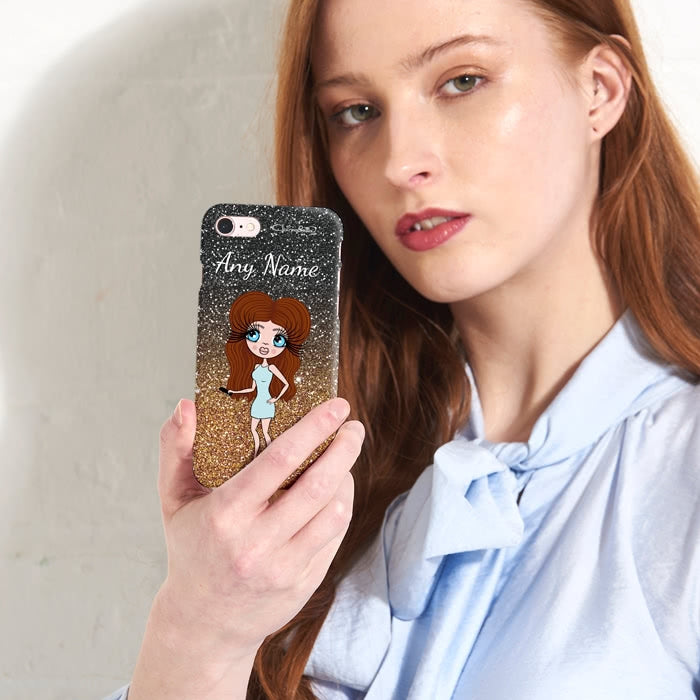 ClaireaBella Personalised Ombre Glitter Effect Phone Case - Image 4
