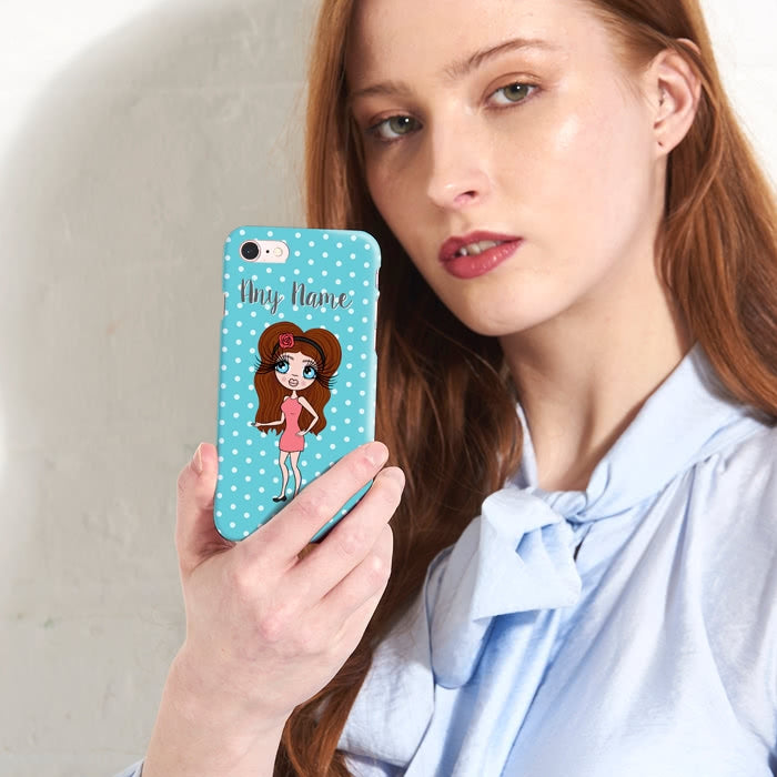 ClaireaBella Personalised Polka Dot Phone Case - Image 1