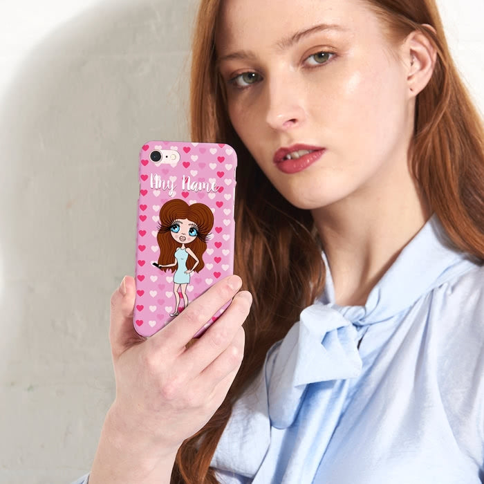 ClaireaBella Personalised Hearts Phone Case - Image 3