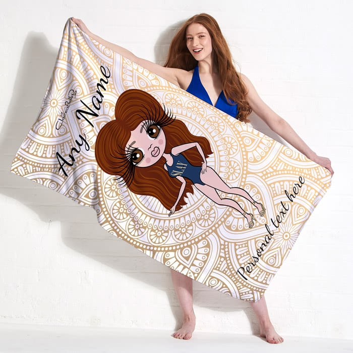 ClaireaBella Golden Lace Beach Towel - Image 1