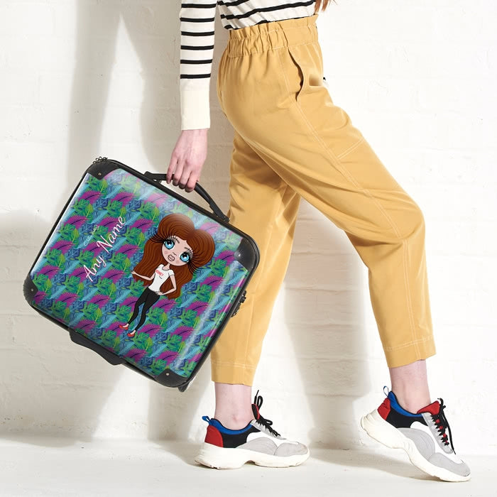 ClaireaBella Neon Leaf Weekend Suitcase - Image 9