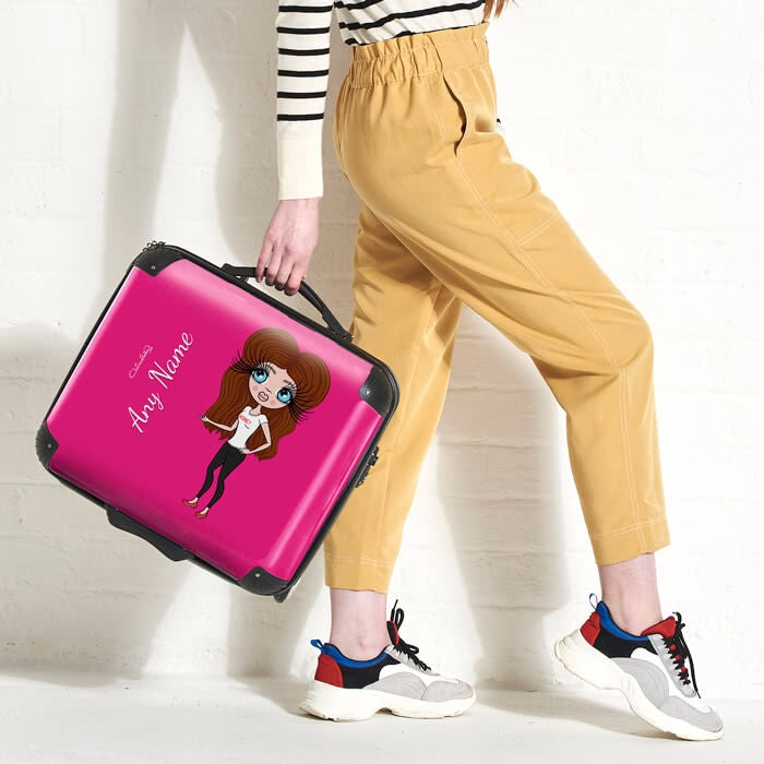 ClaireaBella Hot Pink Weekend Suitcase - Image 4