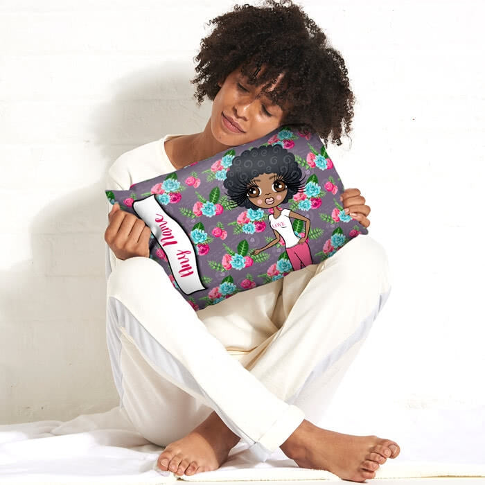 ClaireaBella Placement Cushion - Grey Floral - Image 4