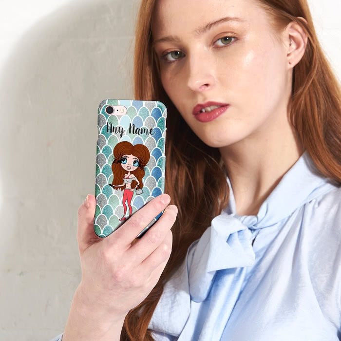 ClaireaBella Personalised Mermaid Glitter Effect Phone Case - Image 6