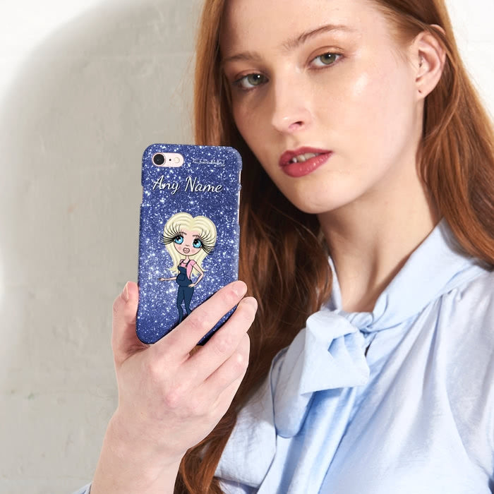 ClaireaBella Mum To Be Glitter Effect Phone Case - Image 4