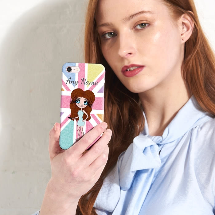 ClaireaBella Personalised Union Jack Phone Case - Image 1