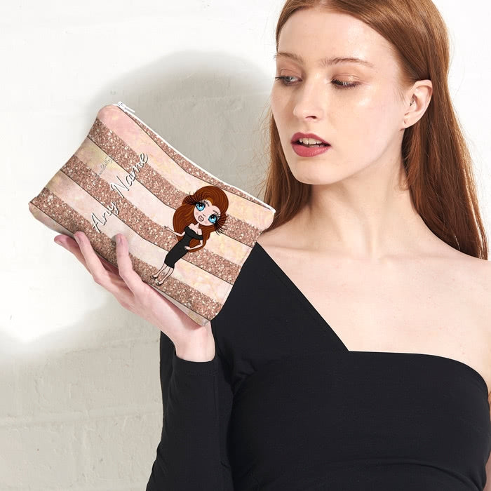 ClaireaBella Geo Chevron Print Make Up Bag - Image 2