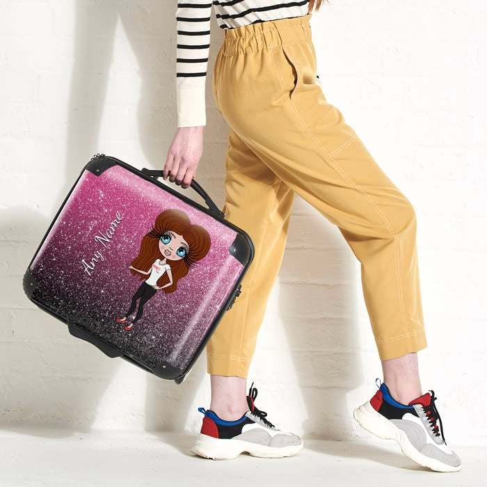 ClaireaBella Ombre Glitter Effect Weekend Suitcase - Image 1