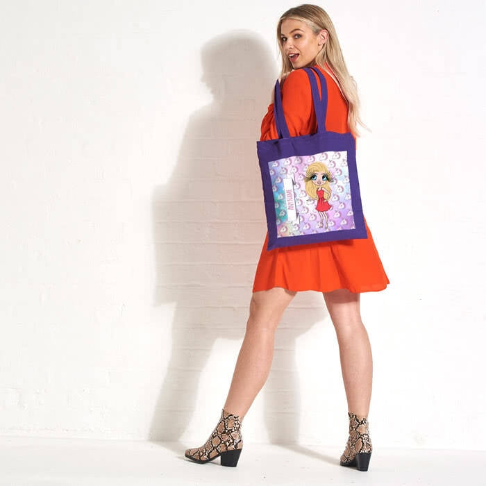 ClaireaBella Unicorn Emoji Colour Pop Canvas Bag - Image 6