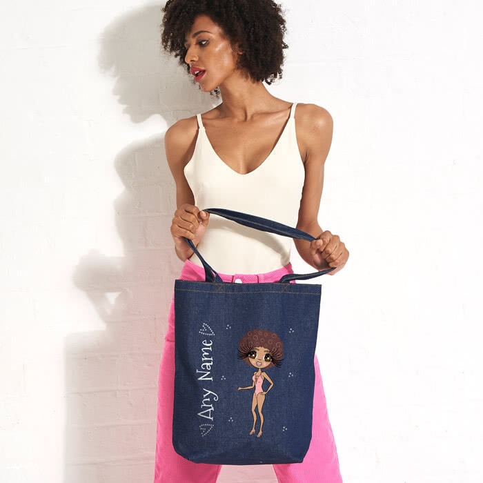 ClaireaBella Bikini Denim Canvas Bag - Image 1