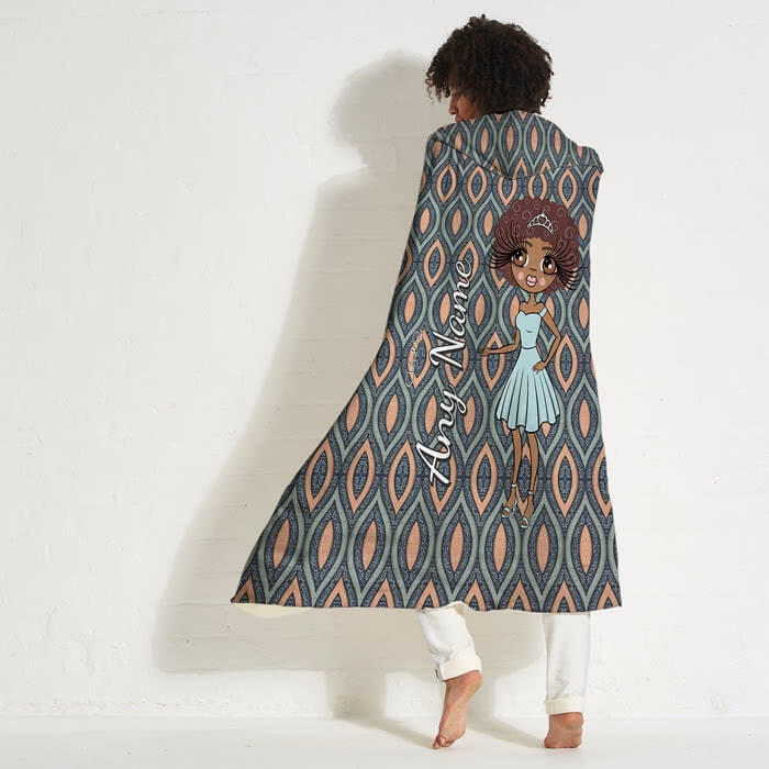 ClaireaBella Peacock Pattern Hooded Blanket - Image 7