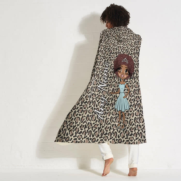 ClaireaBella Leopard Print Hooded Blanket - Image 7