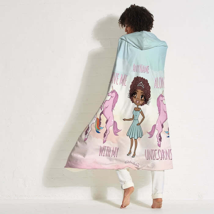 ClaireaBella Unicorn Love Hooded Blanket - Image 1