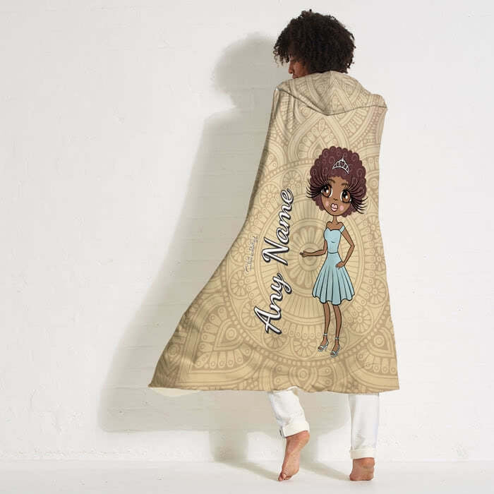 ClaireaBella Lace Print Hooded Blanket - Image 3
