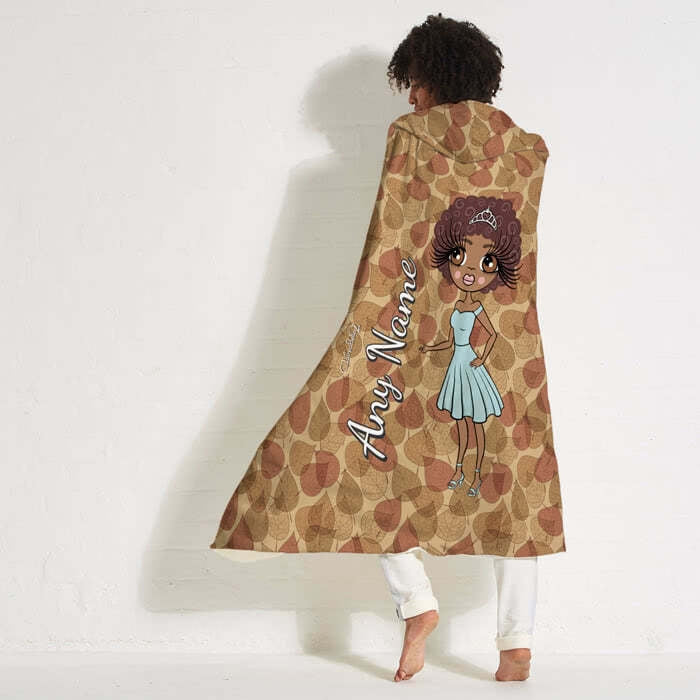 ClaireaBella Autumn Leaves Hooded Blanket - Image 7