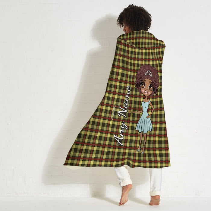 ClaireaBella Tartan Hooded Blanket - Image 1