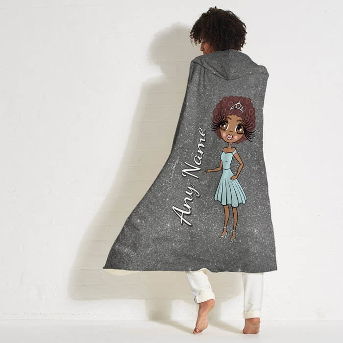ClaireaBella Glitter Effect Hooded Blanket - Image 4