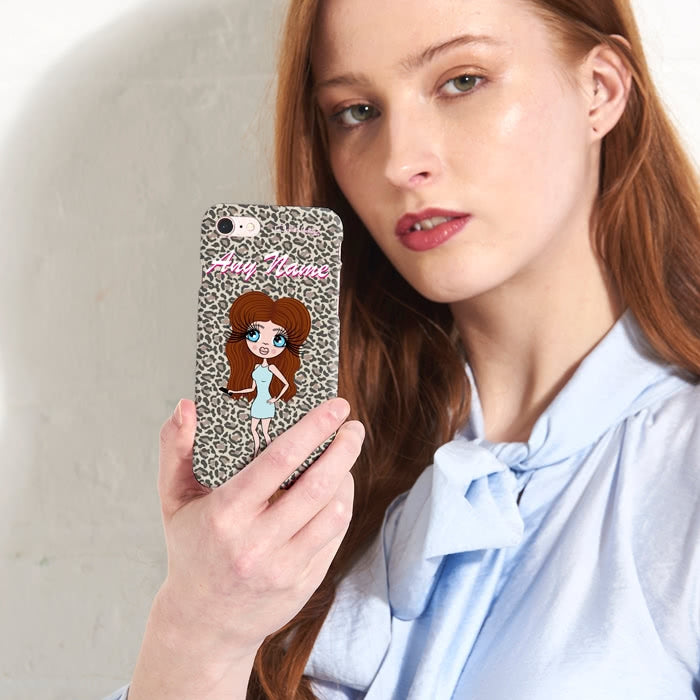 ClaireaBella Personalised Leopard Print Phone Case - Image 2