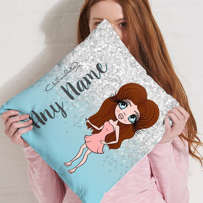 ClaireaBella Square Cushion - Crystal Blue - Image 3