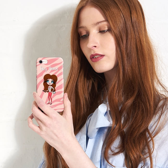 ClaireaBella Personalised Pink Zebra Phone Case - Image 2