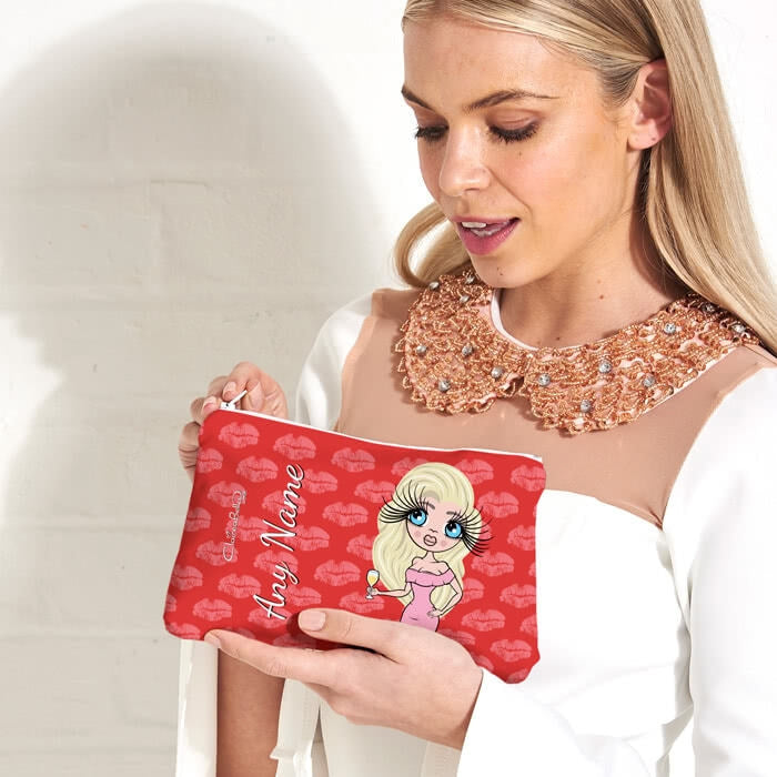ClaireaBella Lip Print Make Up Bag - Image 3