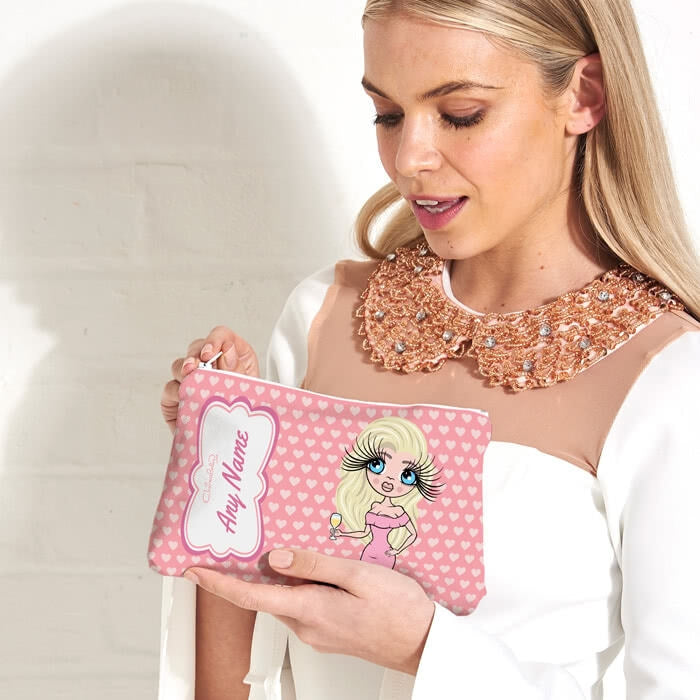 ClaireaBella Heart Print Make Up Bag - Image 3