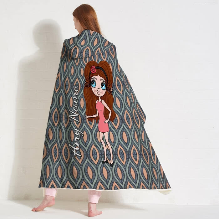 ClaireaBella Peacock Pattern Hooded Blanket - Image 1