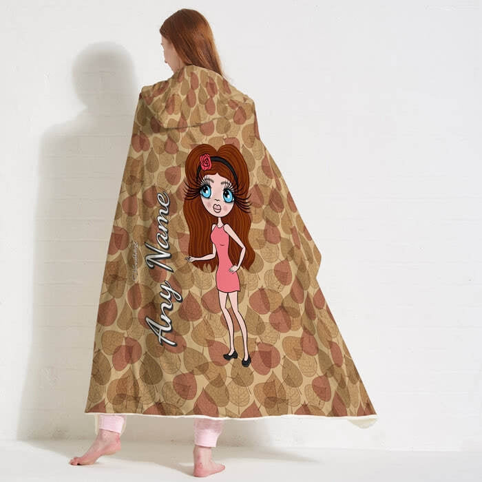 ClaireaBella Autumn Leaves Hooded Blanket - Image 1