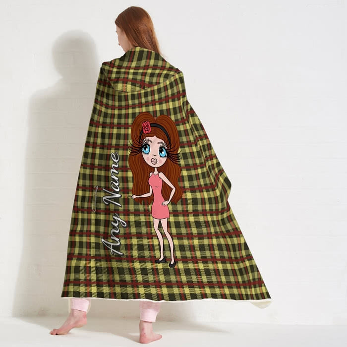 ClaireaBella Tartan Hooded Blanket - Image 4