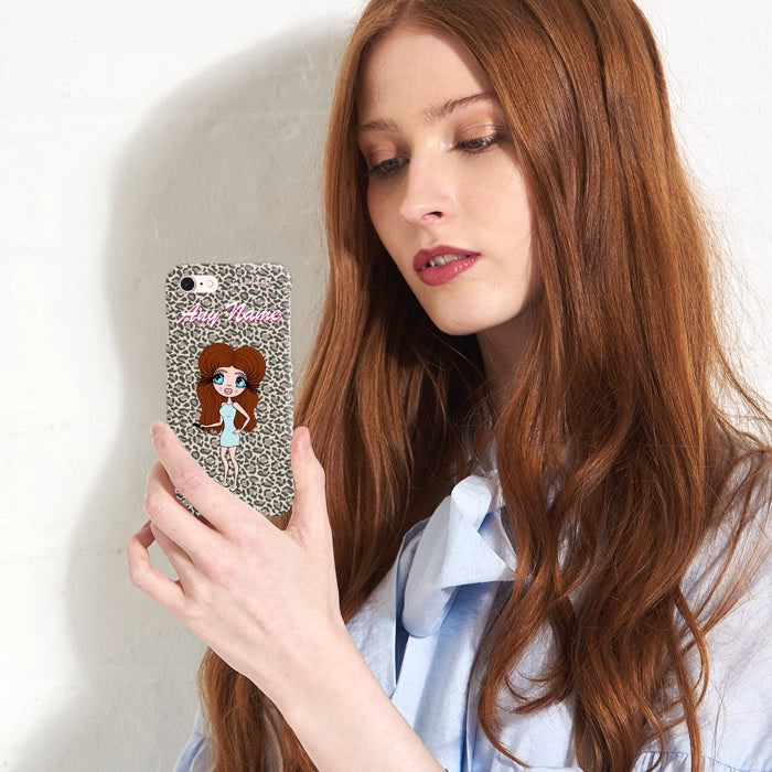 ClaireaBella Personalised Leopard Print Phone Case - Image 4
