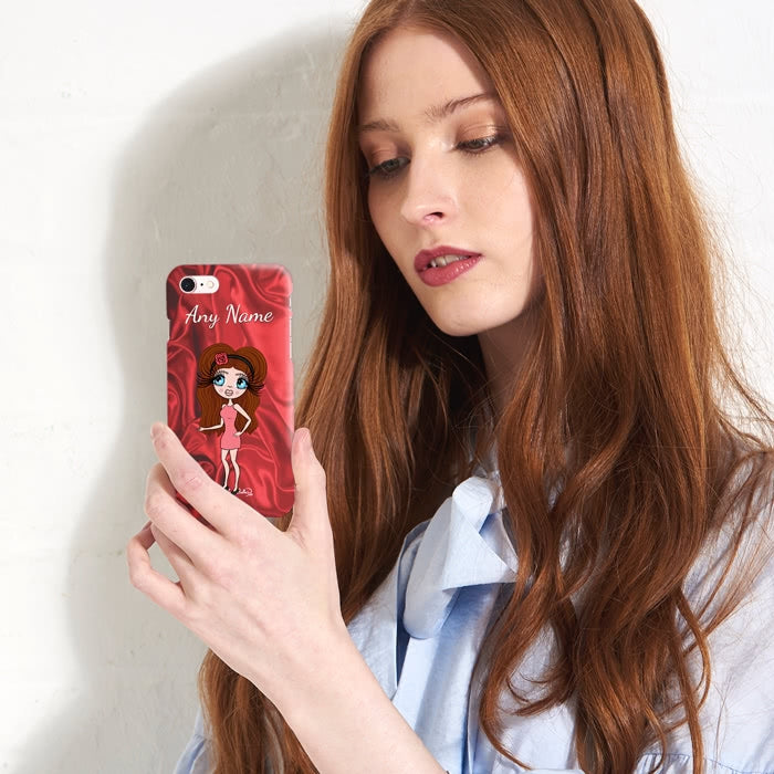 ClaireaBella Personalised Silky Satin Effect Phone Case - Image 5