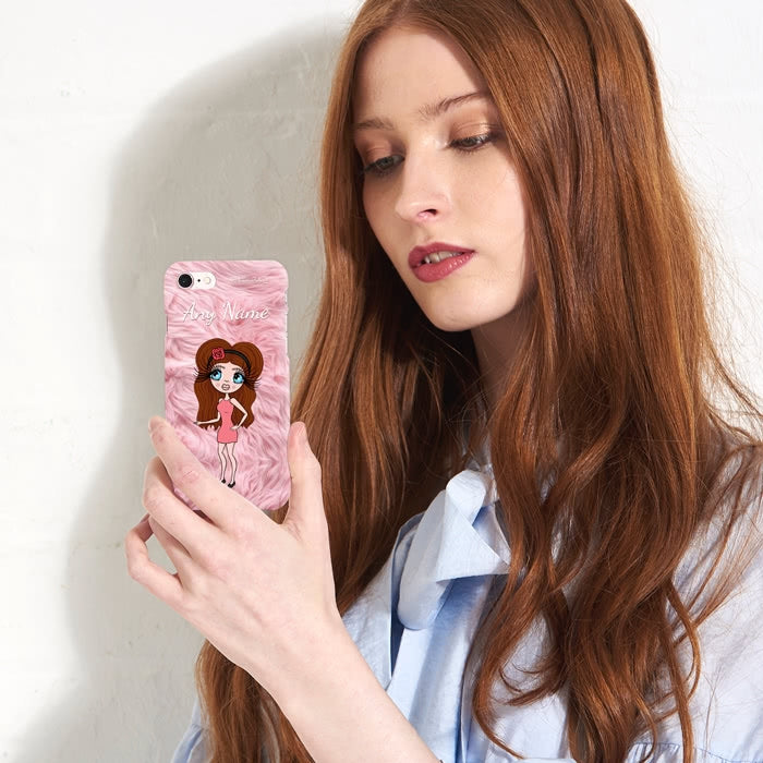 ClaireaBella Personalised Fur Effect Phone Case - Image 3