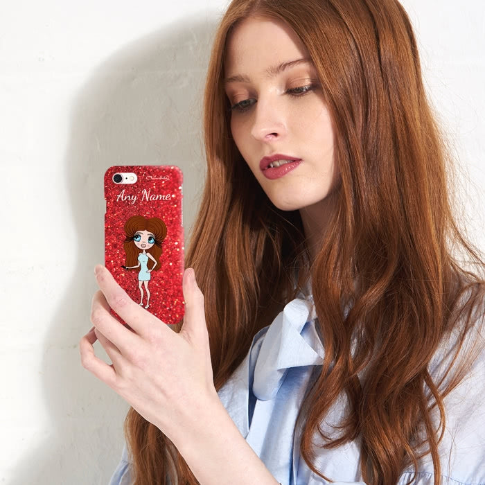 ClaireaBella Personalised Romantic Glitter Effect Phone Case - Image 4