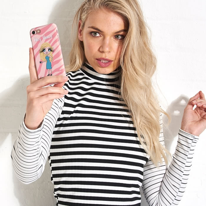 ClaireaBella Personalised Pink Zebra Phone Case - Image 6