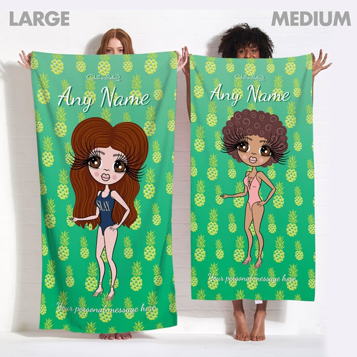 ClaireaBella Pineapple Beach Towel - Image 7
