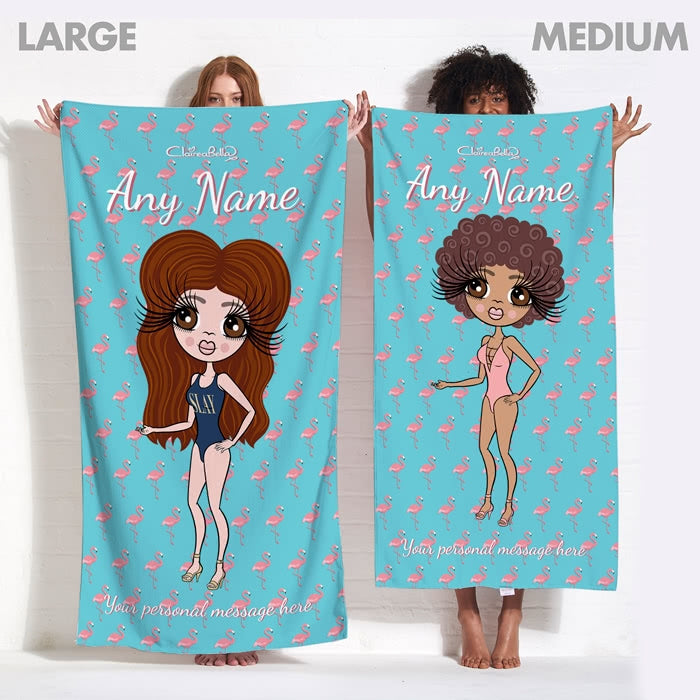 ClaireaBella Flamingo Print Beach Towel - Image 7