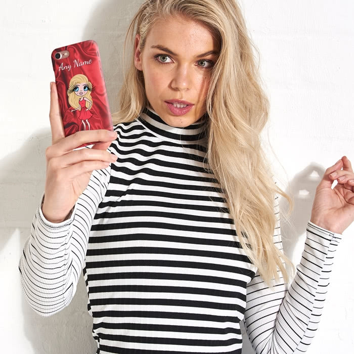 ClaireaBella Personalised Silky Satin Effect Phone Case - Image 6