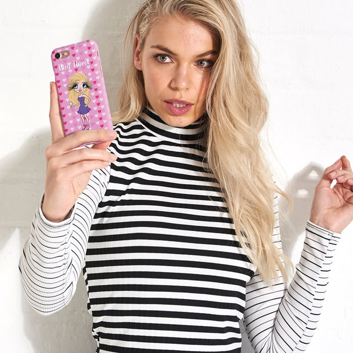 ClaireaBella Personalised Hearts Phone Case - Image 6