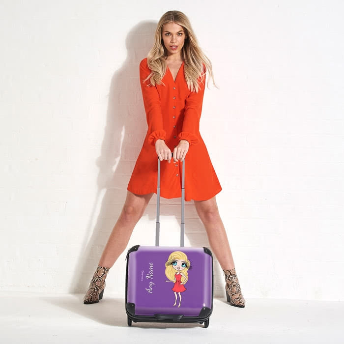ClaireaBella Purple Weekend Suitcase - Image 5