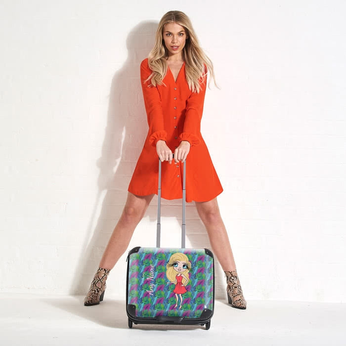 ClaireaBella Neon Leaf Weekend Suitcase - Image 3