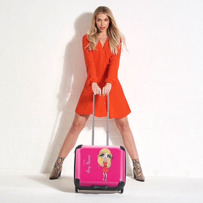 ClaireaBella Hot Pink Weekend Suitcase - Image 3