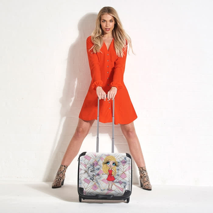 ClaireaBella Geo Print Weekend Suitcase - Image 4
