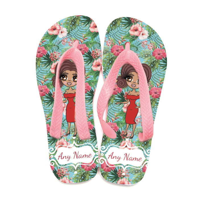 ClaireaBella Hula Print Flip Flops