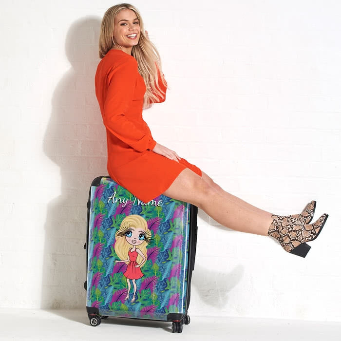 ClaireaBella Neon Leaf Suitcase - Image 3